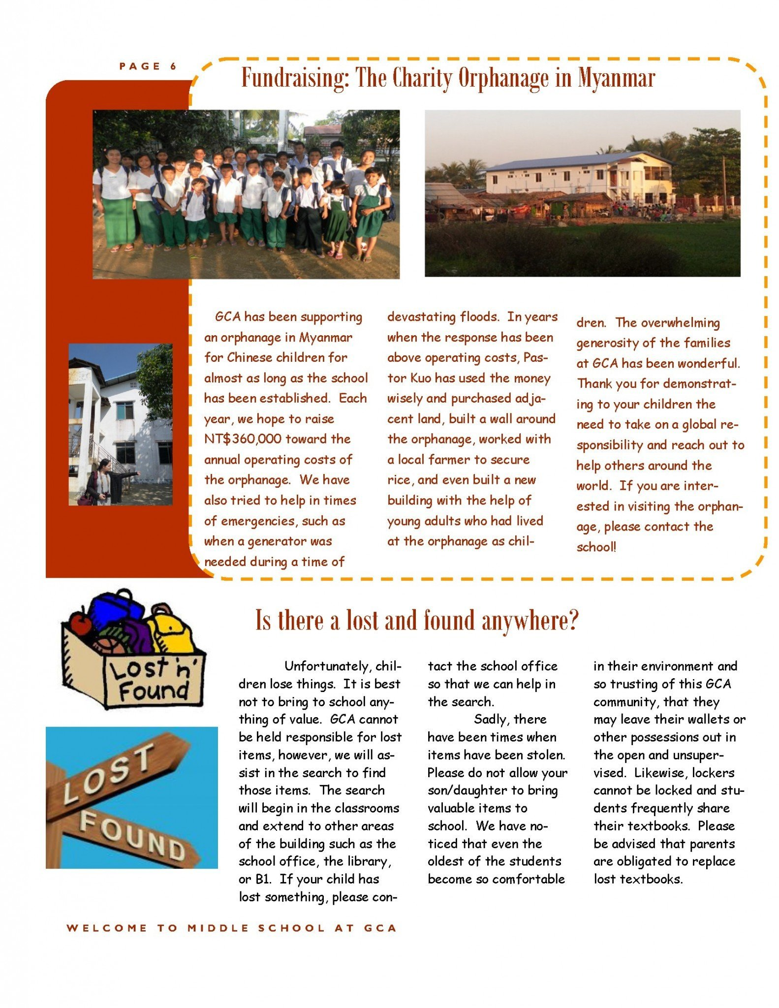 Middle School | Grace Christian Academy, Taipei